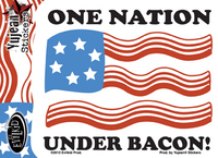 One Nation Under Bacon Sticker