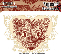 Jeral Tidwell Muertos Hearts Day of the Dead Sticker