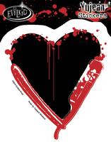 Razor Heart Sticker