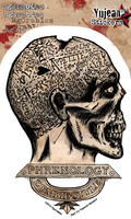 Agorables Zombie Phrenology Sticker | Agorables