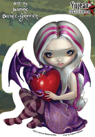 Jasmine's Valentine Dragon Fairy Sticker