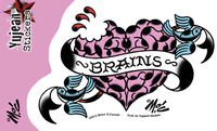 Mitch O'Connell I Heart Brains Zombie Sticker