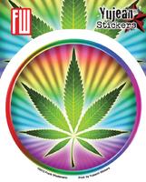 Psychedelic Potleaf Sticker