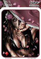 Pete Tapang Cemetery Gates Day of the Dead Pinup Sticker