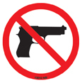 No Guns - Mini Stickers 25 packs