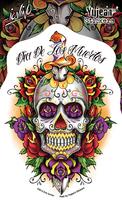 Eric Iovino Dagger Sugar Skull Sticker