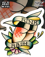 Rink Rash Roller Derby Sticker