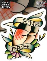 Rink Rash Roller Derby Sticker