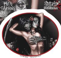 Pete Tapang Tragedy Grim Reaper, Sugar Skull Pinup Sticker