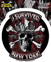 Skygraphx I Survived New York Sticker