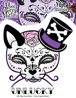 Miss Cherry Martini Top Hat Kitty Sugar Skull Sticker