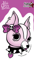 Miss Cherry Martini Girl Chihuahua Sticker