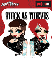 Miss Cherry Martini Thick as Thieves sticker