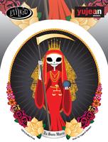 Evilkid Santa Muerte Sticker