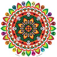 Evilkid Jumbo Muertos Mandala Sticker
