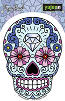 Sunny Buick Diamond Forehead Sugar Skull Sticker