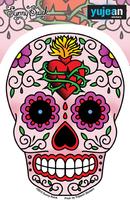Sunny Buick Sacred Heart Sugar Skull Sticker