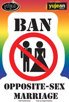 Evilkid Ban Opposite Marriage sticker