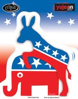 Evilkid Donkey/Elephant sticker