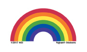 Mini Rainbow Sticker pack of 25