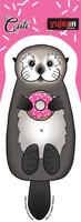 Cali Otter Donut Sticker
