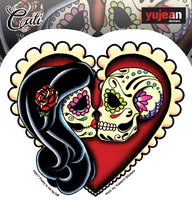 Cali Ashes Red Heart Sticker