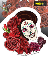 Cali Resting in Roses Sticker