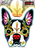 Cali Boston Terrier Sticker