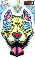 Cali Slobbering Pit Bull Sticker
