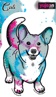 Cali Corgi Sticker