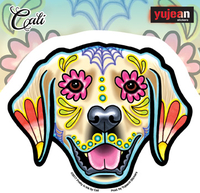 Cali's Golden Retriever Sticker
