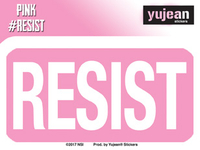 Pink#Resist Resist Sticker