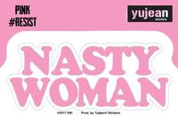 Pink#Resist Nasty Woman Sticker