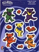 Grateful Dead Dancing Bear Mini-Sticker Multi-Pak