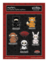 Ninja-Dorable Mini-Sticker Multi-Pak