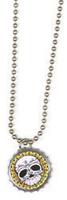 Mexi Skull Bottlecap Necklace