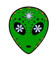 Alien Sugar Skull Enamel Pin