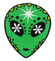 Alien Sugar Skull Patch