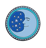 Dan Morris Moon Enamel Pin