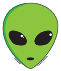 Mini-Alien Sticker 25-pack