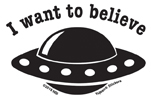 Mini I Want to Believe Sticker