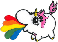 Emi Boz Chubby Unicorn Rainbow Patch