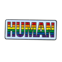 Human Rainbow Enamel Pin