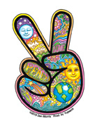 Dan Morris Mini Peace Hand Sticker 25-pack
