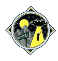 Roswell Alien Large Enamel Pin