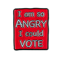 Angry Vote Enamel Pin