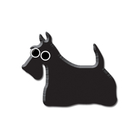 Heidi Barack Scottie Enamel Pin