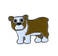 Heidi Barack Bulldog Enamel Pin