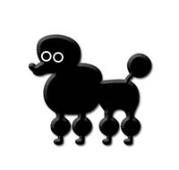 Heidi Barack Poodle Enamel Pin