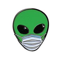 Masked Alien Enamel Pin